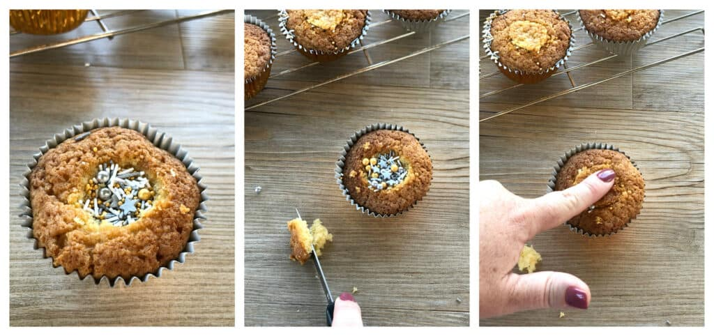 How to make hole in cupcakes