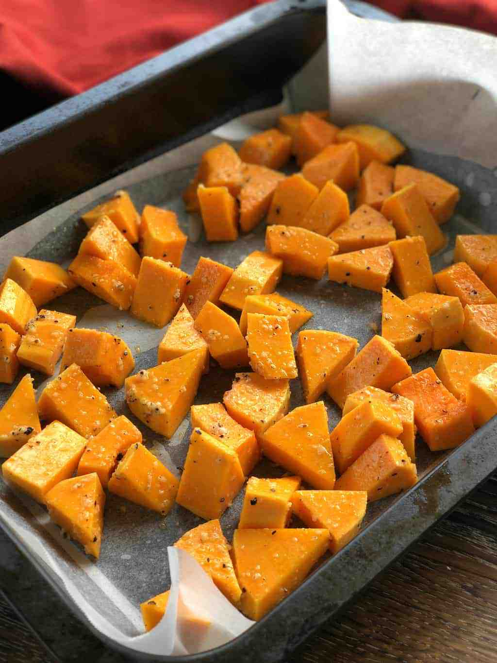 How to Peel and Roast Butternut Pumpkin