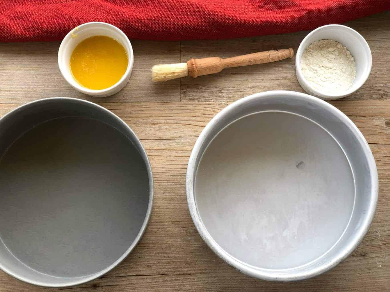 Preparing Sponge Cake Tins
