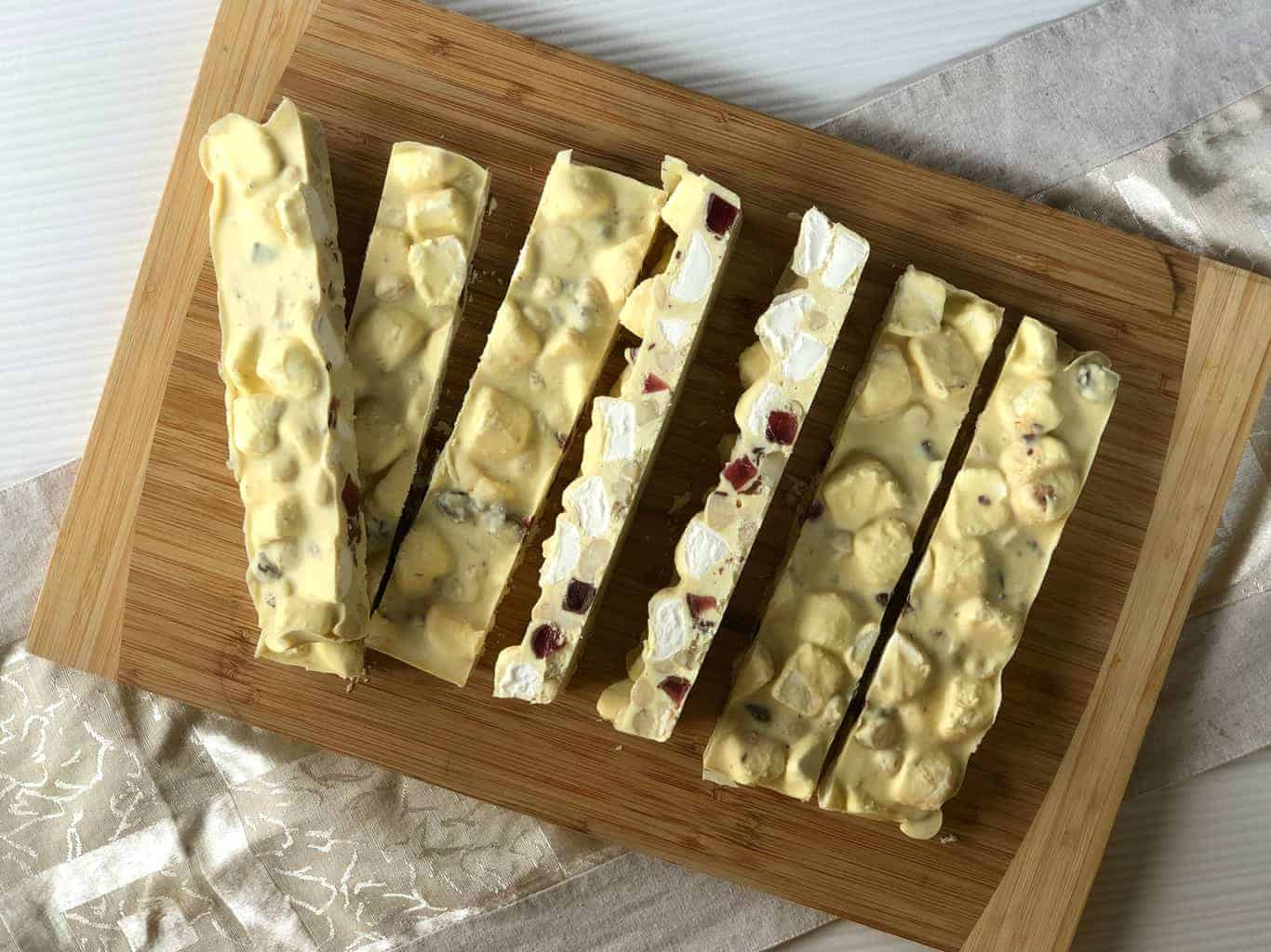 Slices of the Best White Chocolate Rocky Road