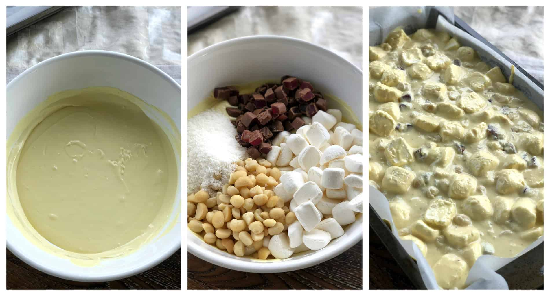 Step by step for Rocky Road