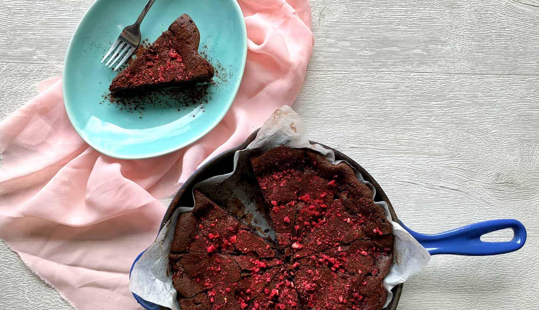 VJ Cooks Raspberry Skillet Brownie