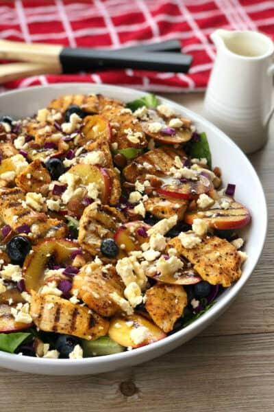 Just A Mum Pinterest Chicken & Nectarine Summer Salad