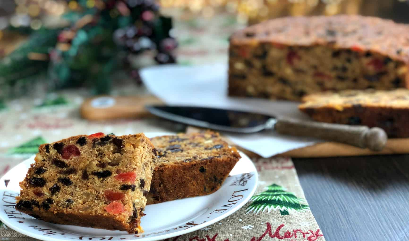 Slice of Christmas Fruit Cake