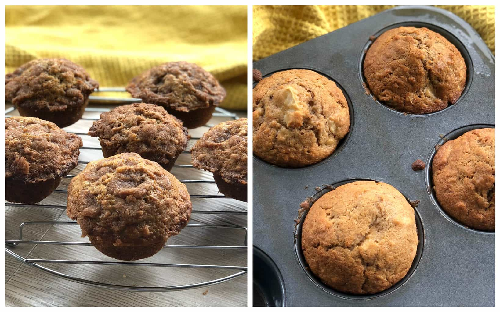 Apple Muffin with and without topping