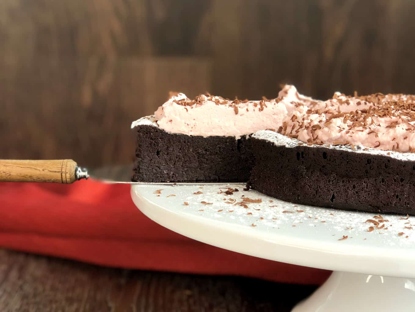 Slice of The Best Gluten Free Chocolate Cake