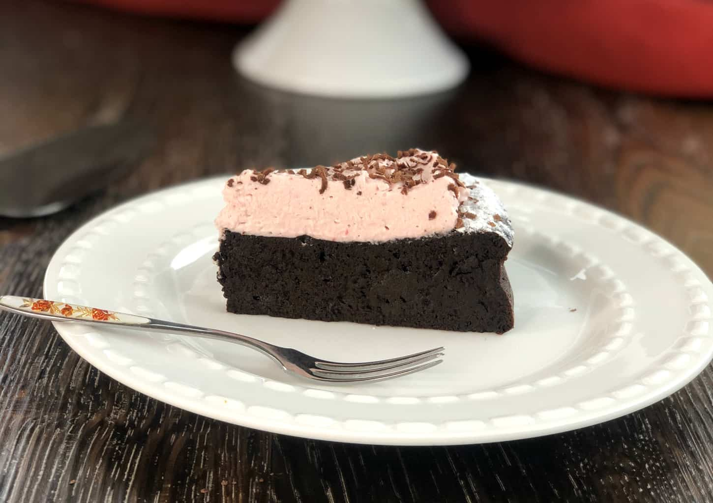 Piece of the best Flourless Chocolate Cake