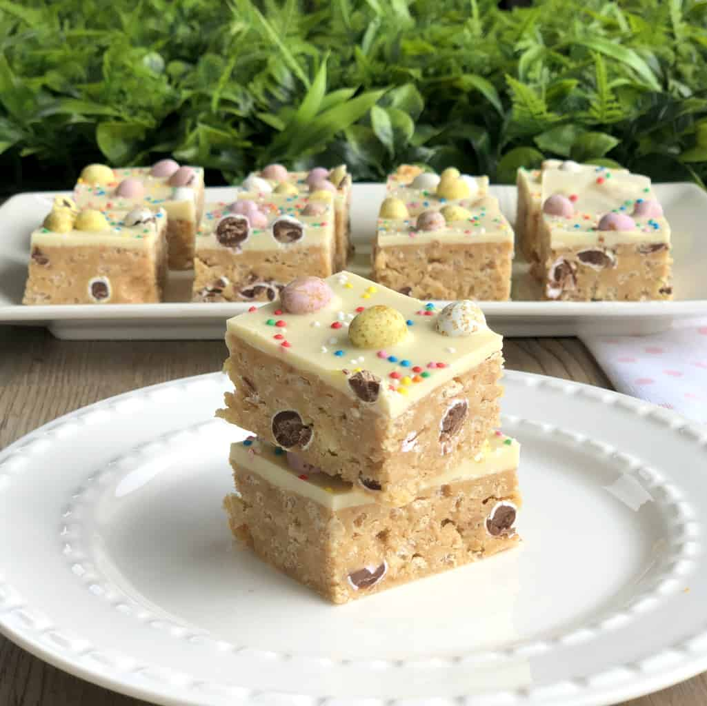 No Bake White Chocolate Easter Slice