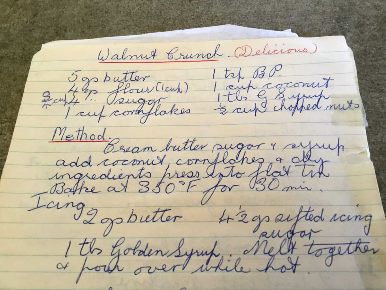 Handwritten Recipe from my Grandma's recipe book