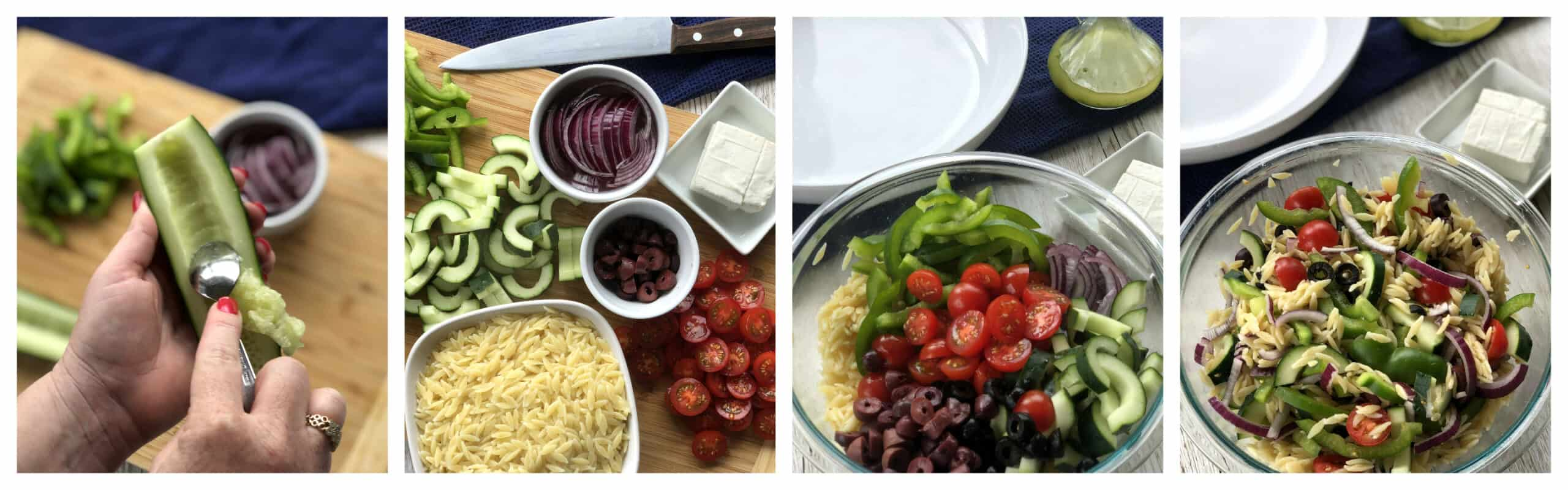 How to make a greek orzo salad
