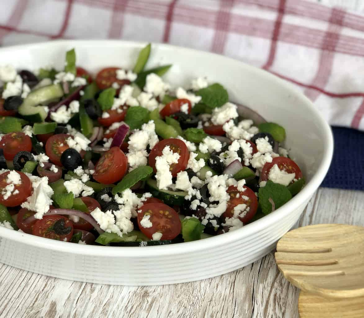 Greek salad with feta