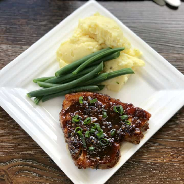 Perfect Apricot & Soy Glazed Pork Chops