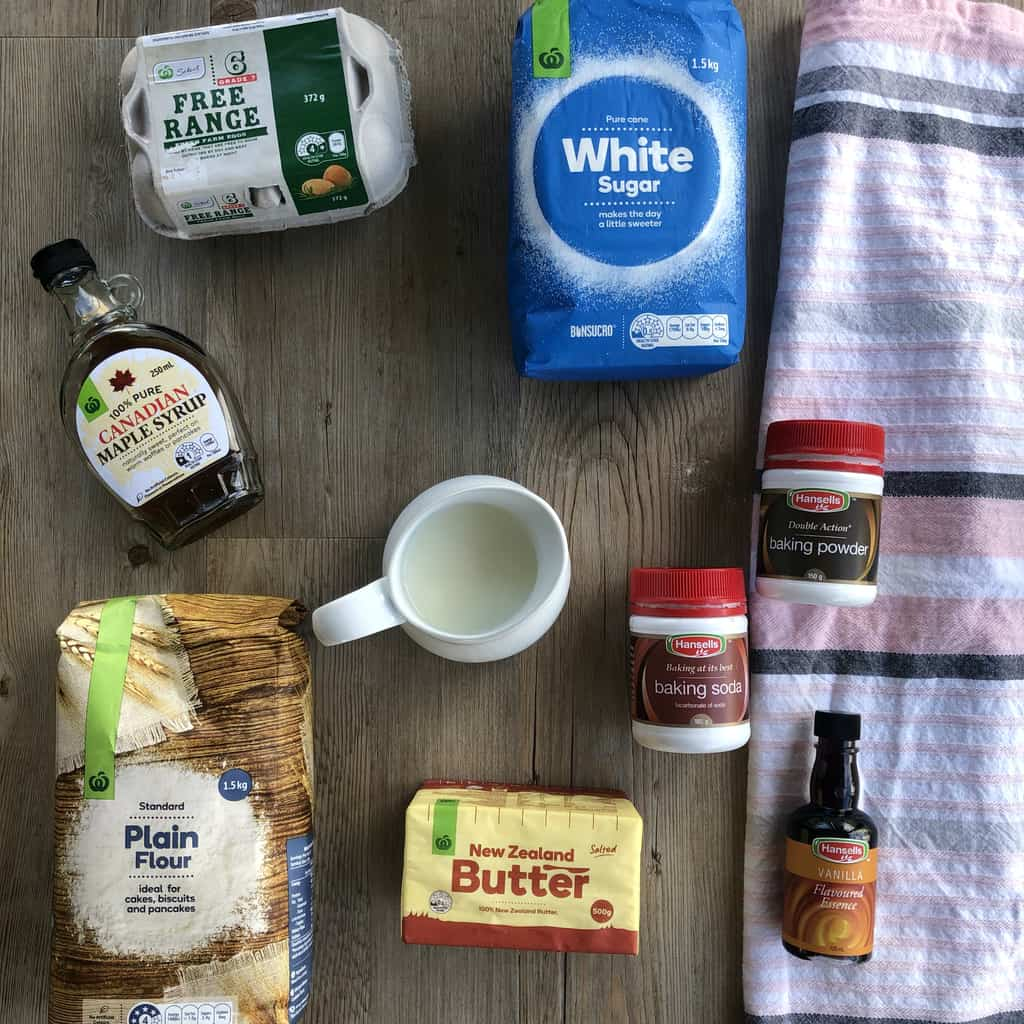 Ingredients for Just A Mums Waffle Recipe