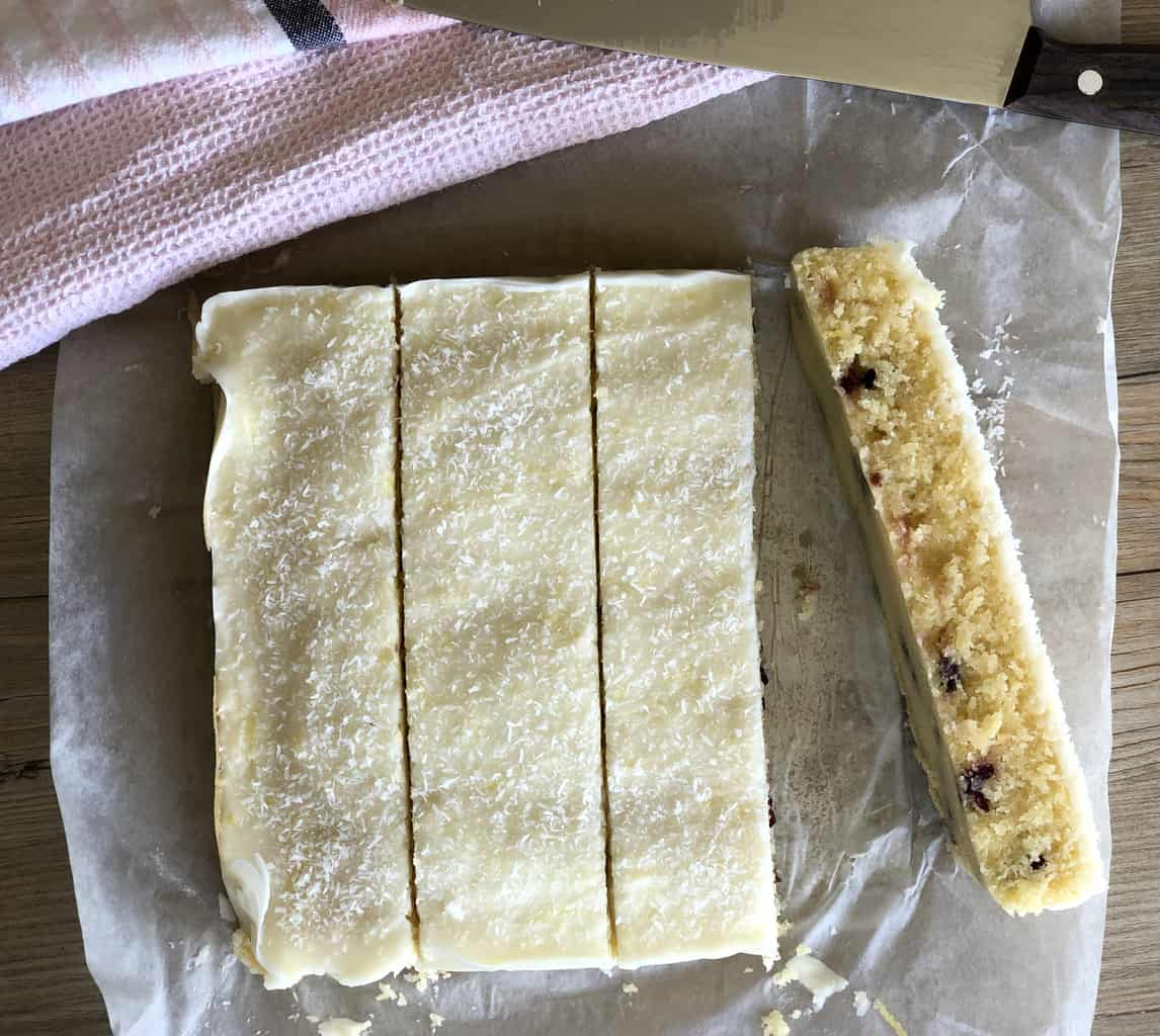 Sliced Coconut Slice