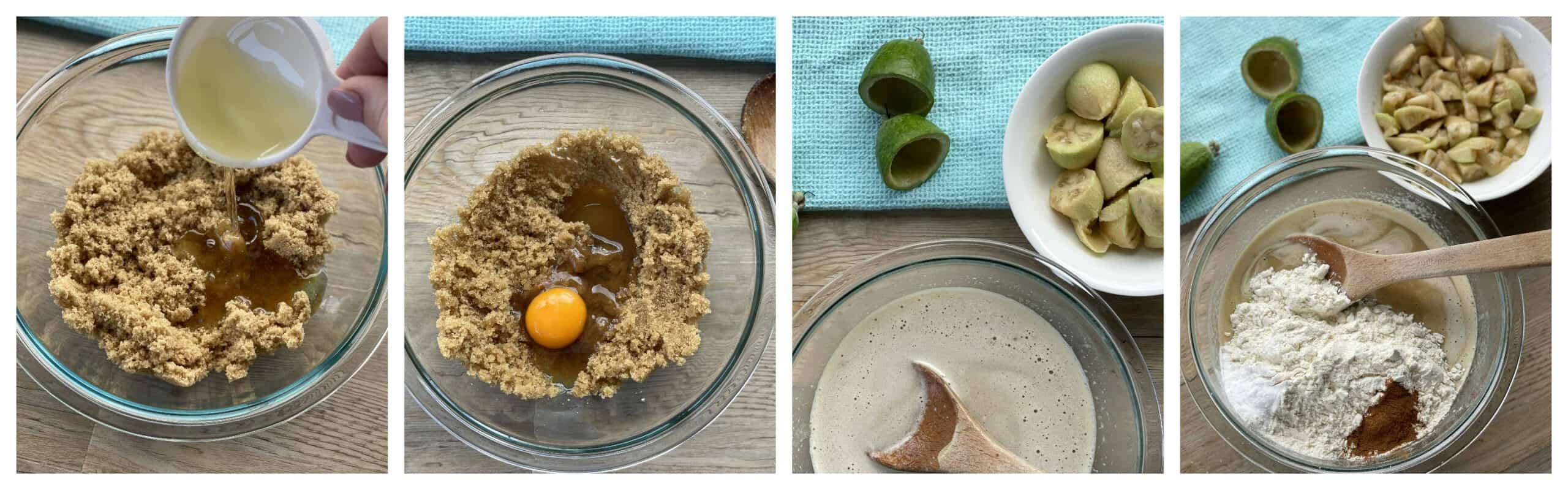 Method for making feijoa cake