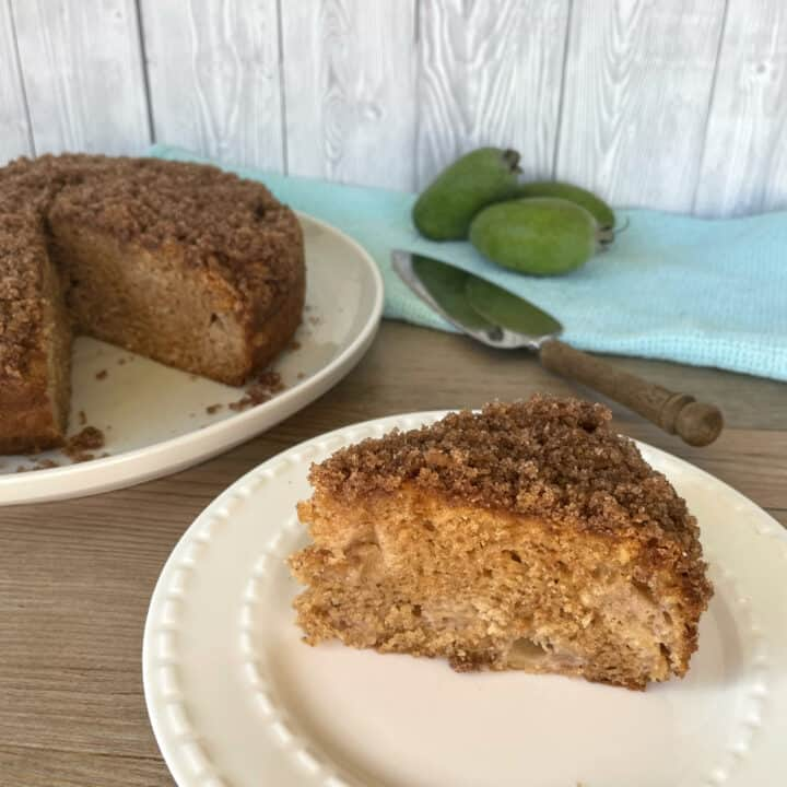 Feijoa Cinnamon Crunch Cake