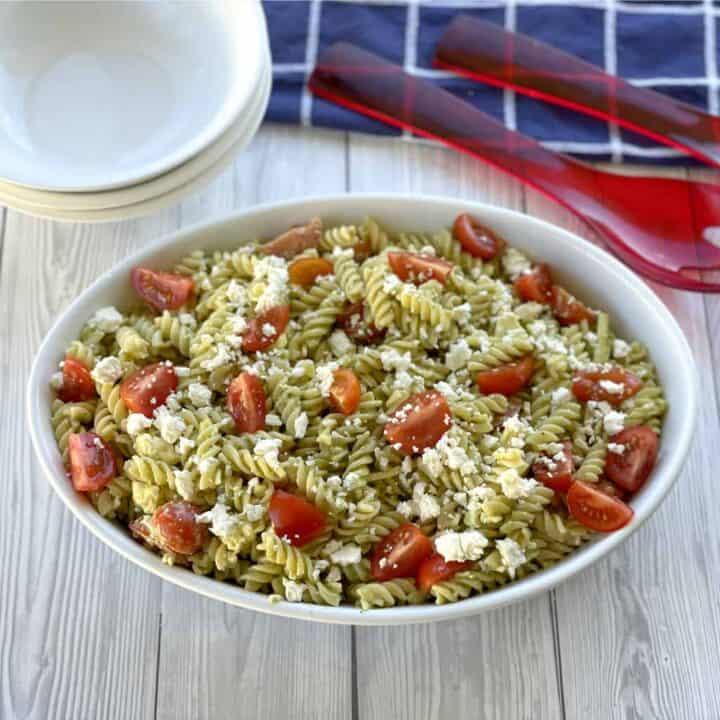 Easy Pesto & Feta Pasta Salad