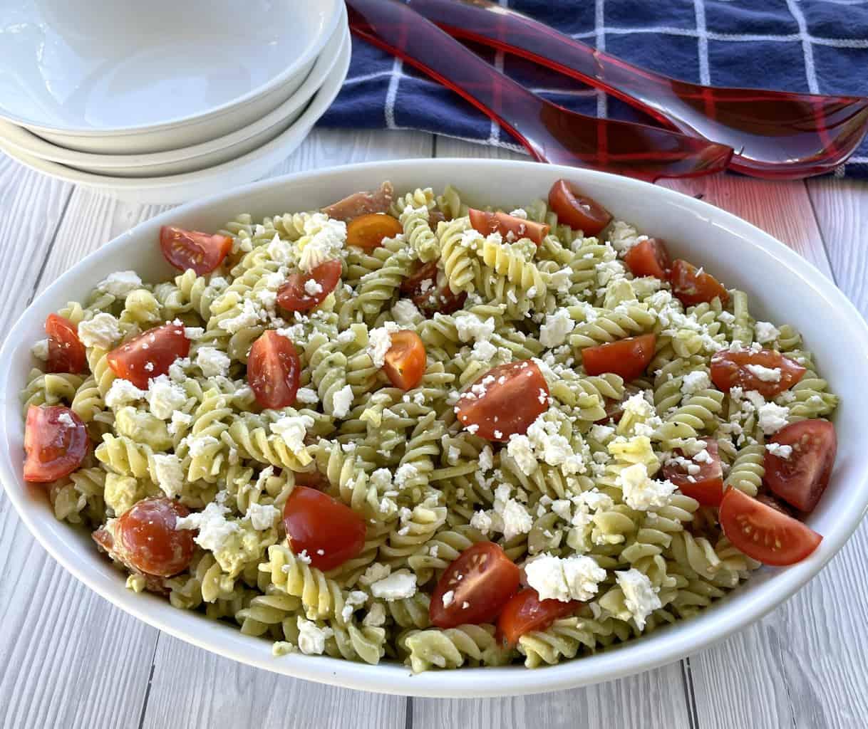 Just A Mum Pesto Pasta Salad