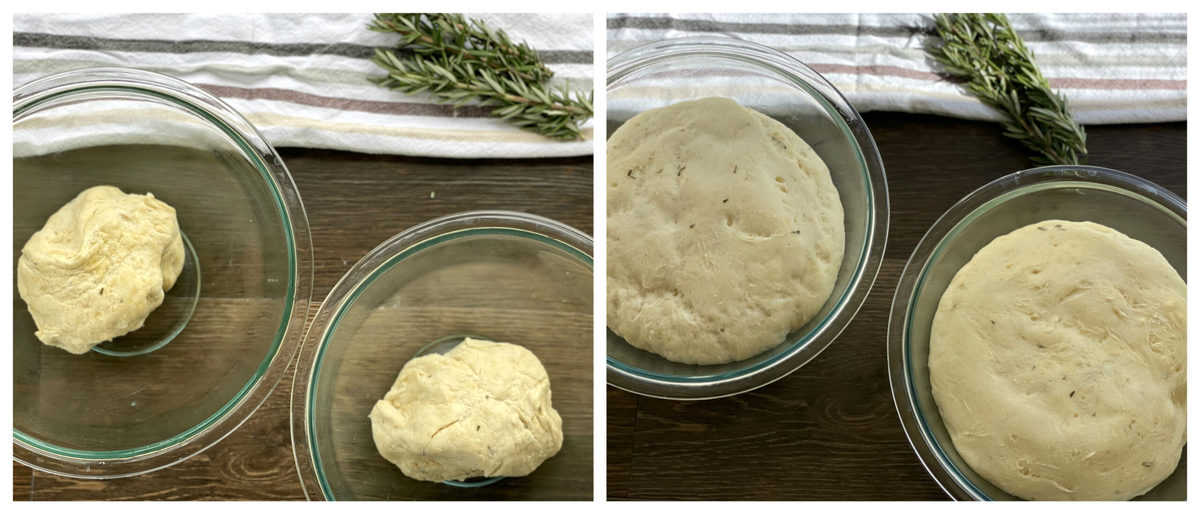 Allow the dough to rise to double the size in an oiled bowl