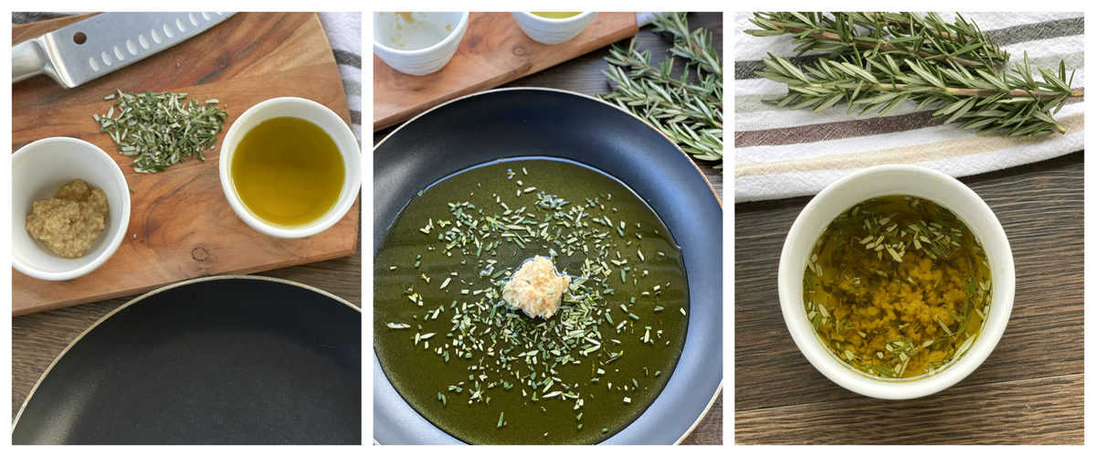How to make garlic and rosemary infused olive oil