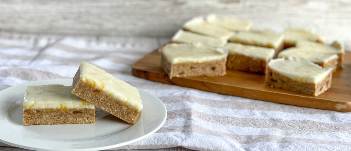 Pieces of No Bake Ginger Slice