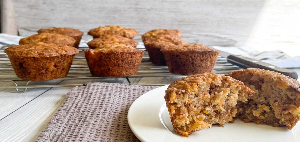 Warm Pineapple and Carrot muffins with cinnamon